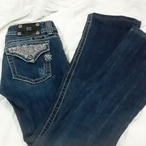 Miss Me Blinged Boot Cut Jeans